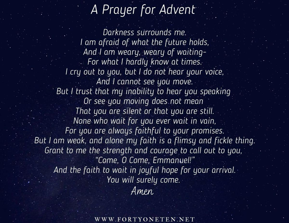 A Prayer for Advent,2020